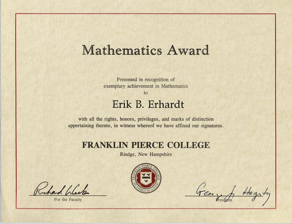 Erikberhardtfpcmathaward1997g aifs international scholarship yadclub Choice Image